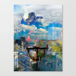 I can feel you in the clouds Canvas Print