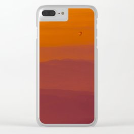 Hot air balloon at sunrise Clear iPhone Case
