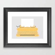 The Lonely Typewriter {mustard} Framed Art Print