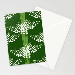 lily of the valley pattern Stationery Cards