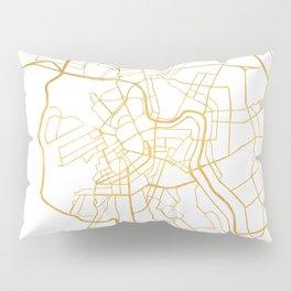 SAINT PETERSBURG CITY STREET MAP ART Pillow Sham