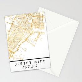 JERSEY CITY NEW JERSEY STREET MAP ART Stationery Cards