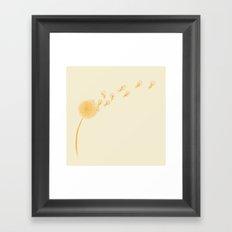 Dande-lions Framed Art Print