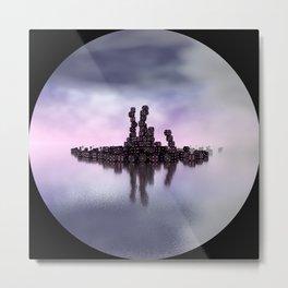 circular images on black -51- Metal Print