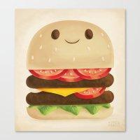 burger Canvas Prints featuring Burger by Greg Abbott