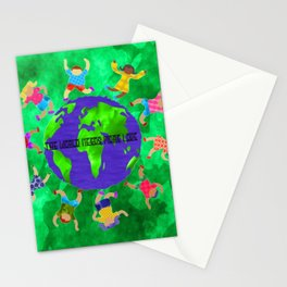 the world needs more love Stationery Cards
