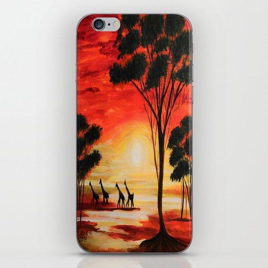 African sunset iPhone & iPod Skin