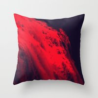 blood Throw Pillows featuring BLOOD by RUEI