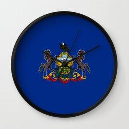 flag pennsylvania,america,us,pennsylvanian,keystone, quaker,appalach,philadelphia,pittsburgh,erie Wall Clock