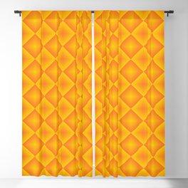 Orange diamond pattern 70's disco style Blackout Curtain