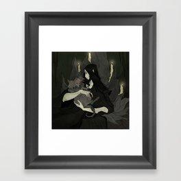 Cerberus and Hades Framed Art Print