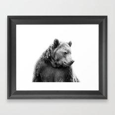 Bear Portrait Framed Art Print