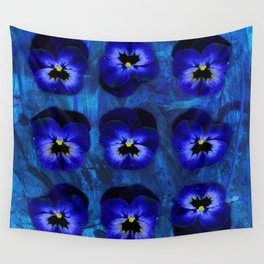 Deep Blue Velvet Wall Tapestry