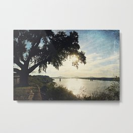 Mississippi River at Natchez Metal Print