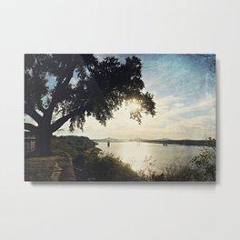 Mississippi River at Natchez Metal Print