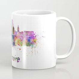 Baltimore skyline in watercolor Coffee Mug