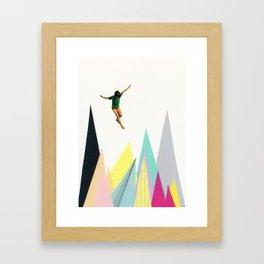 Mountain Jump Framed Art Print
