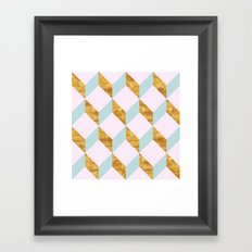 Pattern geometric shapes Framed Art Print