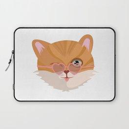 Cat Lover Kitten Summer Sunglasses Feline Gift Laptop Sleeve
