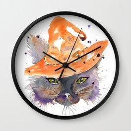 Halloween Cat 2016 Wall Clock