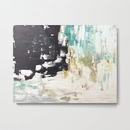 The Falling Horizon Abstract Painting Metal Print