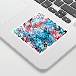 Demonic Toy Poodle Abstract Sticker