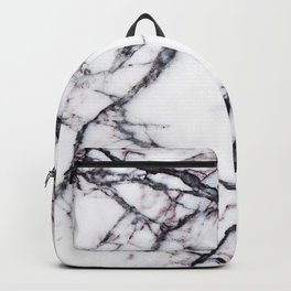 Abstract blush pink black white modern marble Backpack