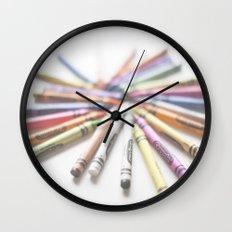 Crayon Love 2  Wall Clock