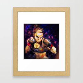 Arm Bar Queen Framed Art Print