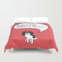furry Duvet Covers featuring My Furry Humps by theswagnessofbonnie