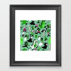 Alt Monster March (Green) Framed Art Print