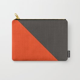 Orange gray pattern Carry-All Pouch