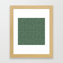 Green Climbing Leaves Framed Art Print