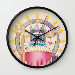Kachina Solar Eclipse Wall Clock