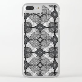 Doodle Pattern 10 Clear iPhone Case
