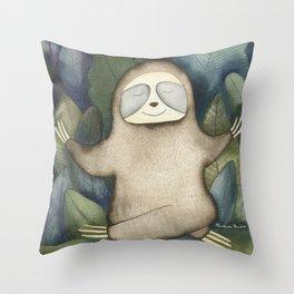 Sloth Yoga Throw Pillow