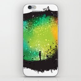 Inner battle between universe and demons iPhone Skin