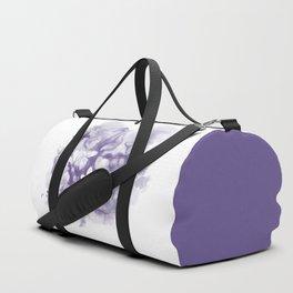 Ultraviolet tropical flowers and butterflies Duffle Bag