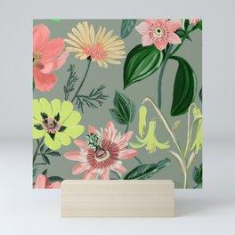 Floral summer pattern Mini Art Print