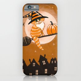Little Ginger Witch Cat iPhone Case