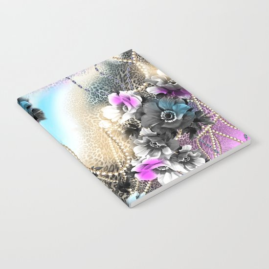Bible Leopard With Flowers Notebook