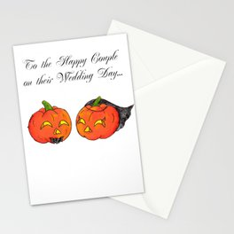 Pumpkin Groom Stationery Cards