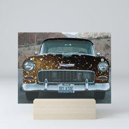 vintage car Mini Art Print
