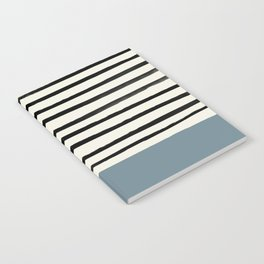 Dusty Blue x Stripes Notebook