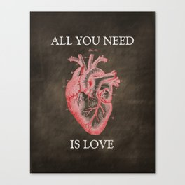 Anatomy Art - All You Need Is Love Canvas Print