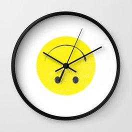 upside down happy face Wall Clock