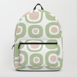 Mid Century Modern Garden Path Pattern 352 Sage and Beige Backpack
