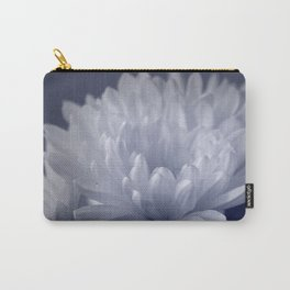 Blue Toned Flower Carry-All Pouch
