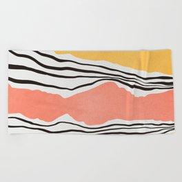 Modern irregular Stripes 01 Beach Towel