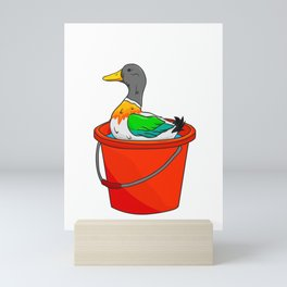 Cute Bath Time! Duck Adorable Duckling Splashing Mini Art Print